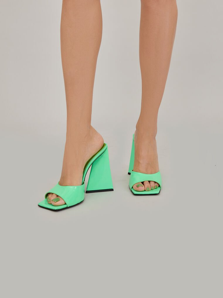 "The Attico ""Devon"" neon green mule 1"