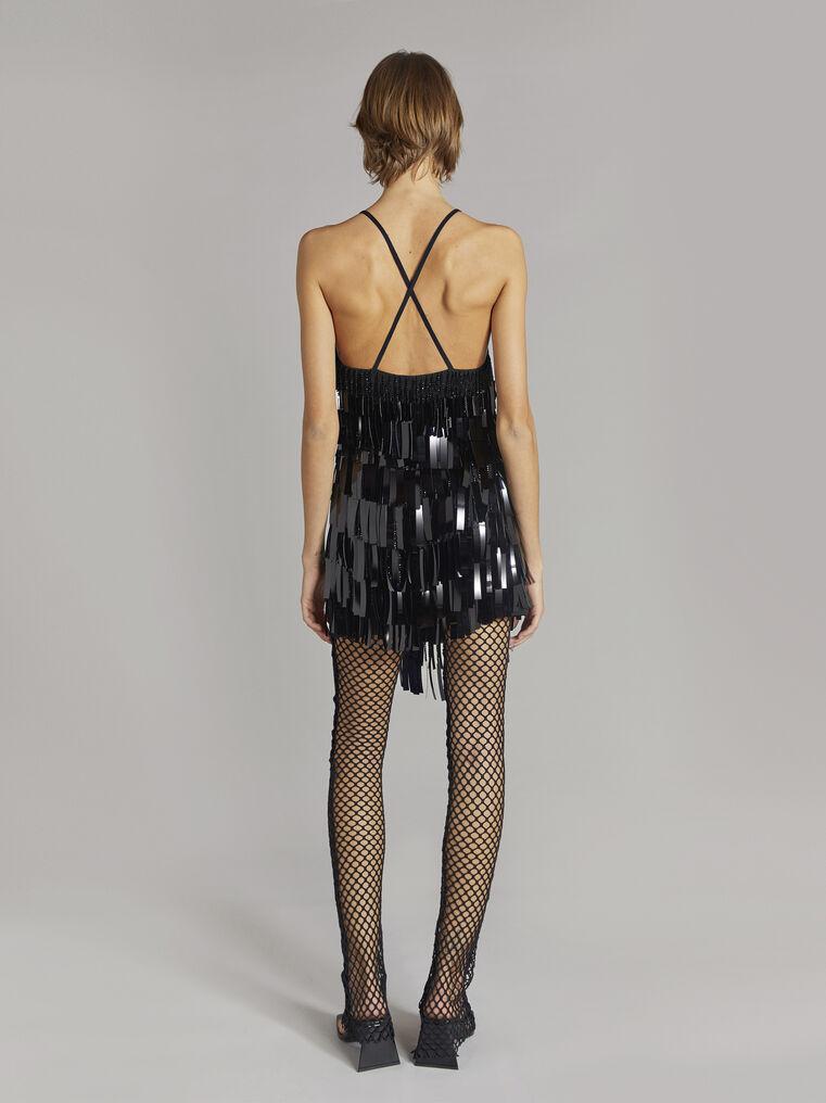 THE ATTICO Black mini slip dress 3