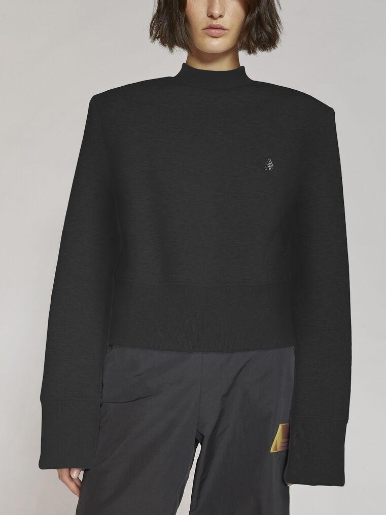 "THE ATTICO ""Kenna"" black sweatshirt 2"