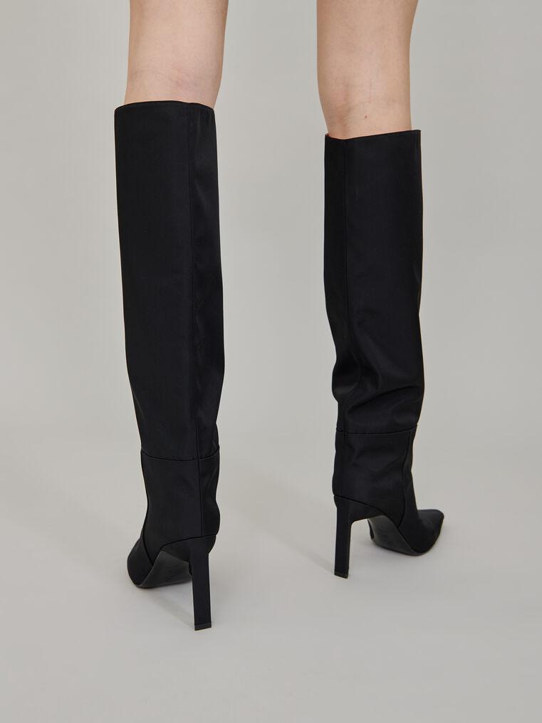 """The Attico """"Vitto 85"""" black nylon  tube boot 3"""