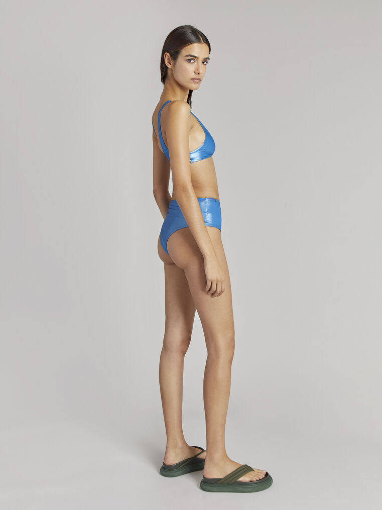 THE ATTICO Ocean blue metallic bikini 3