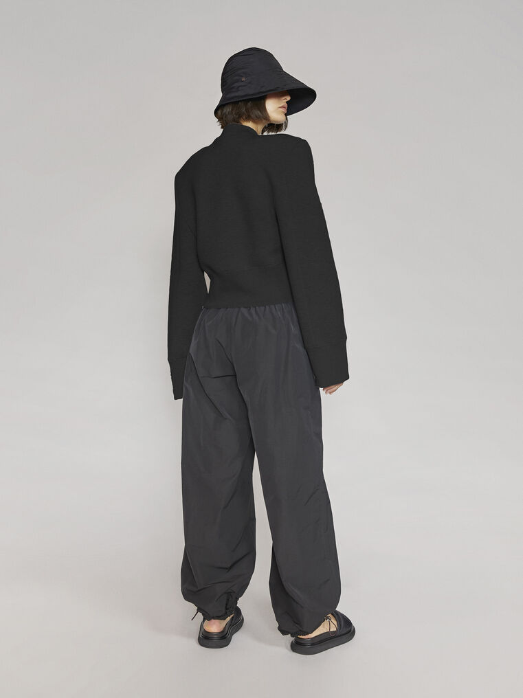 "THE ATTICO ""Kenna"" black sweatshirt 3"