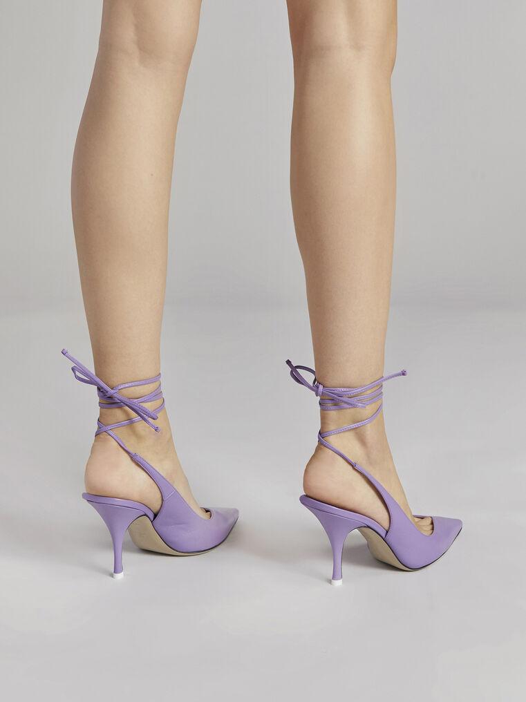 "THE ATTICO ""Venus"" lilac slingback 3"