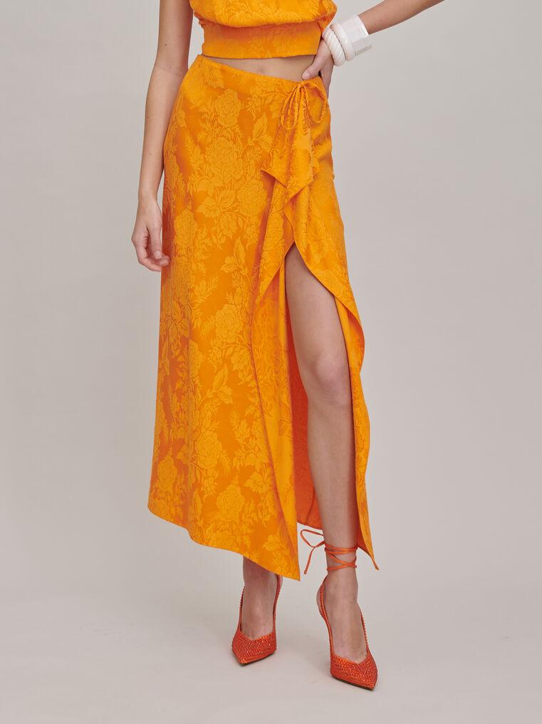 """The Attico """"Gia"""" orange long skirt 3"""