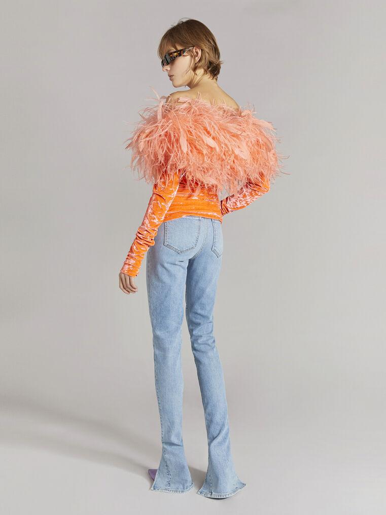 THE ATTICO Blue denim skinny pants 3