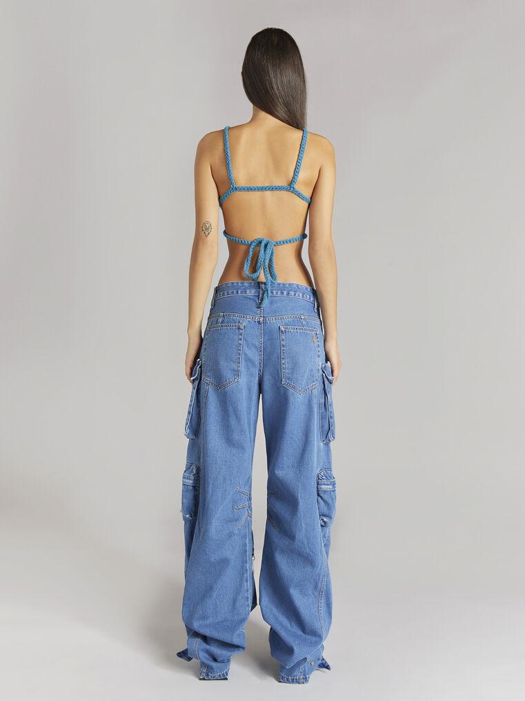 "THE ATTICO ""Fern"" blue denim pants 3"