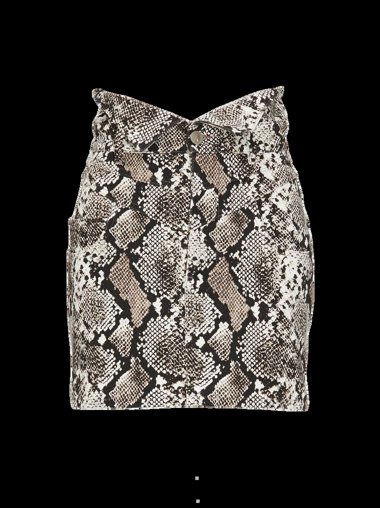 "The Attico ""Virgi"" python-printed mini skirt 4"