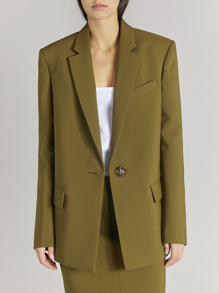 "THE ATTICO ""Bianca"" military green jacket 2"