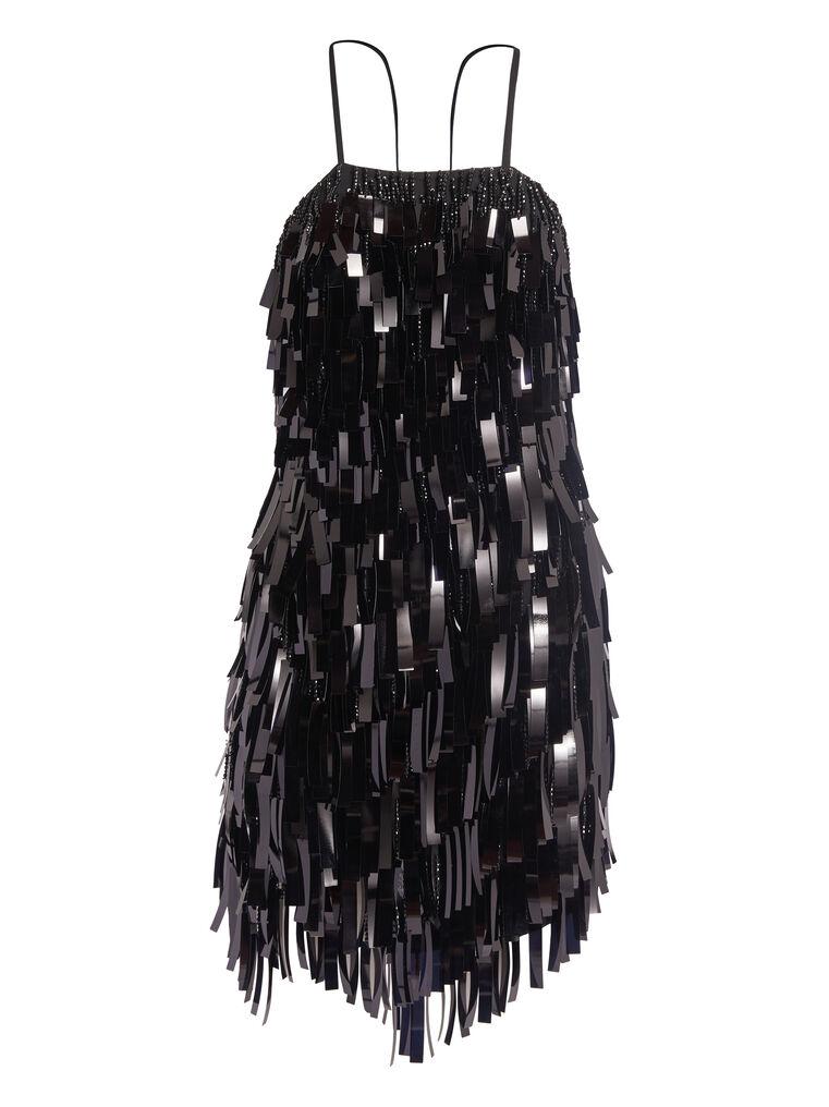 THE ATTICO Black mini slip dress 4