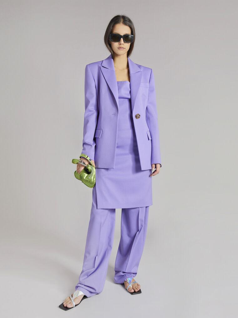 "THE ATTICO ""Blue"" lilac clessidra jacket 1"