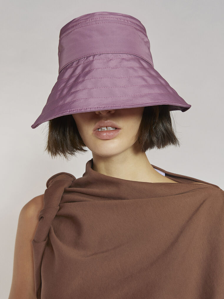 "THE ATTICO ""Dylan"" mauve bucket hat 2"