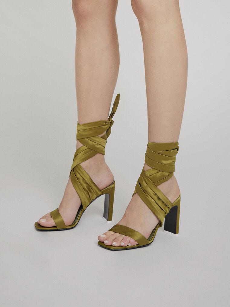 "The Attico ""Paris"" military green sandals 1"