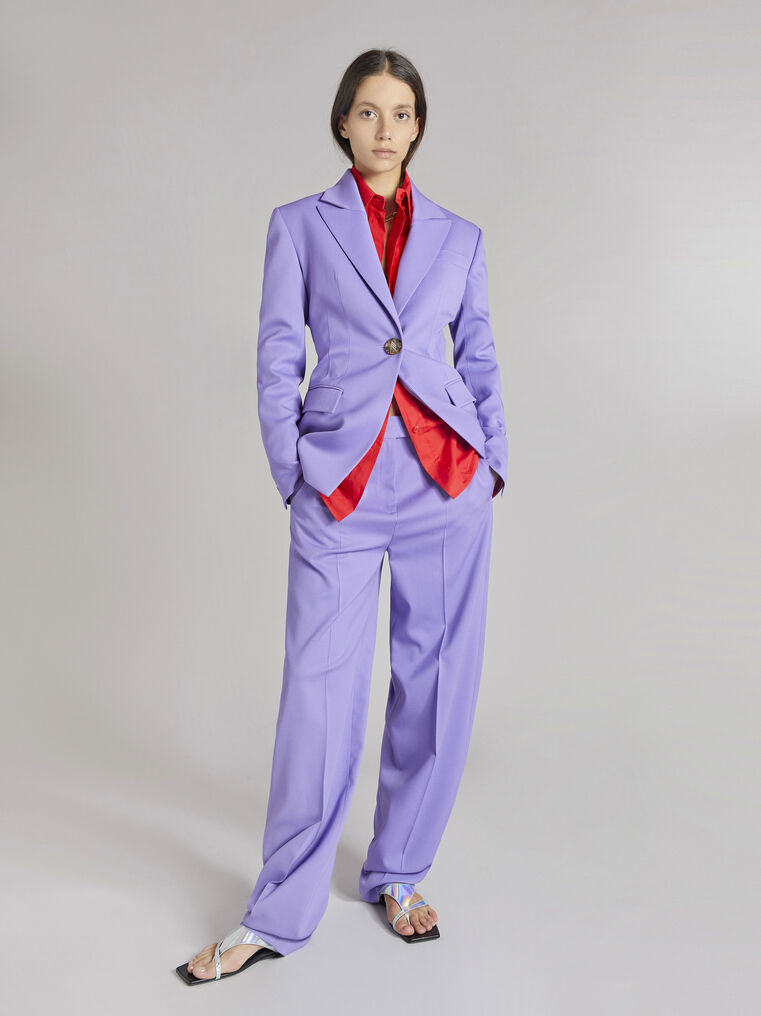 "THE ATTICO ""Jagger"" lilac pants 1"