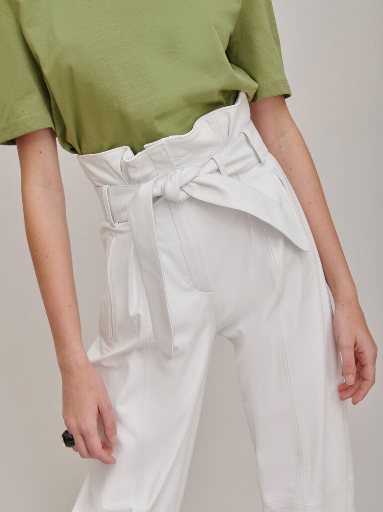 The Attico White high-rise pants 3
