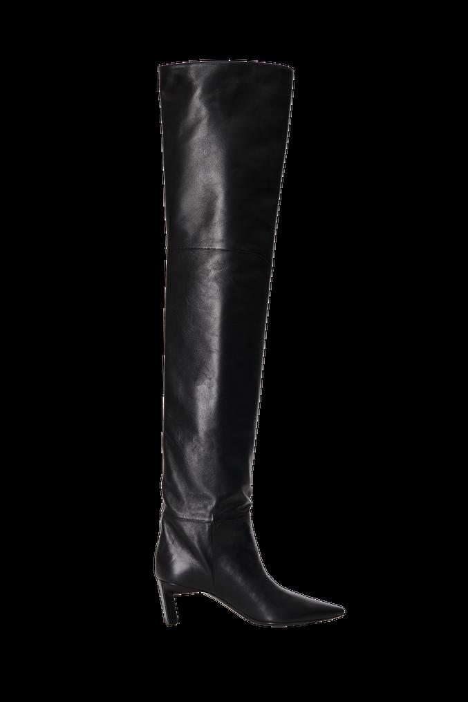 The Attico Black thigh high boot 3