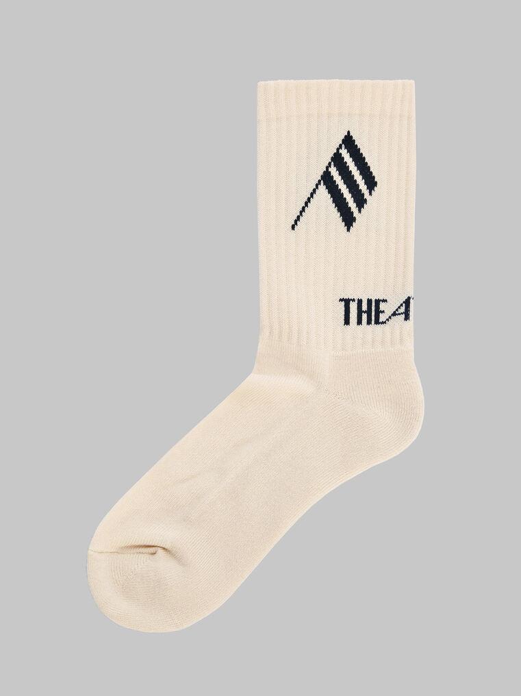 THE ATTICO Sahara bicolor sponge short socks 1
