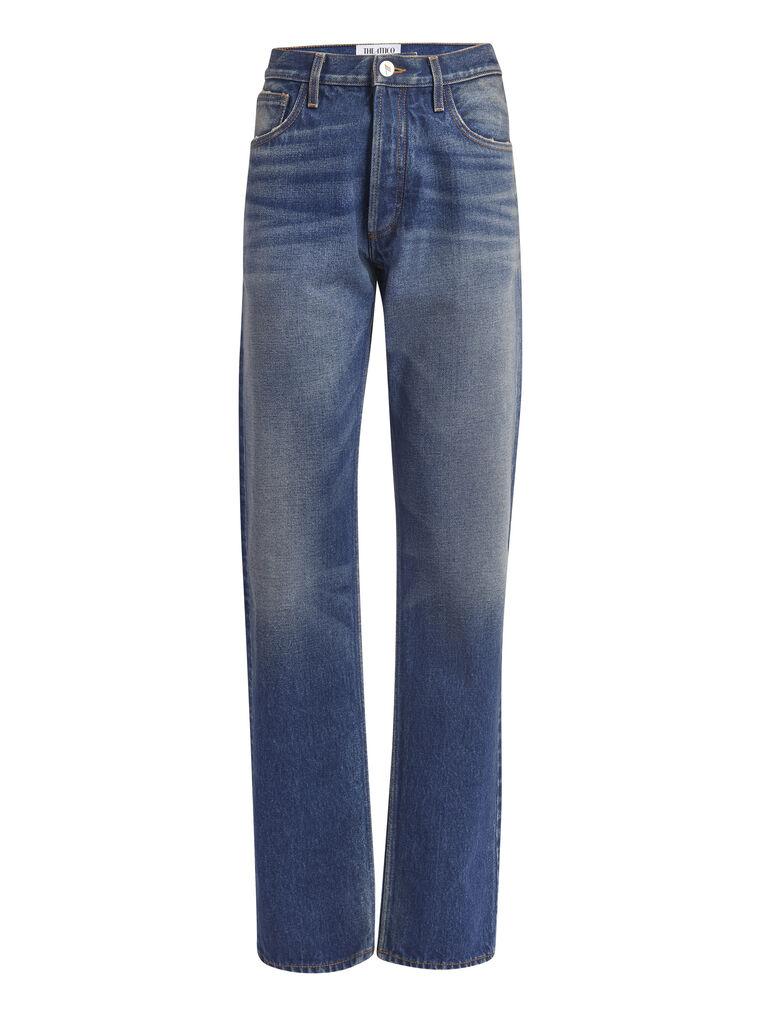 THE ATTICO Boyfriend dark blue jeans 4