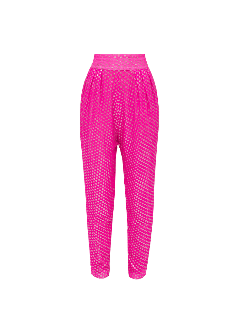 The Attico Pants Fuchsia And Silver 4