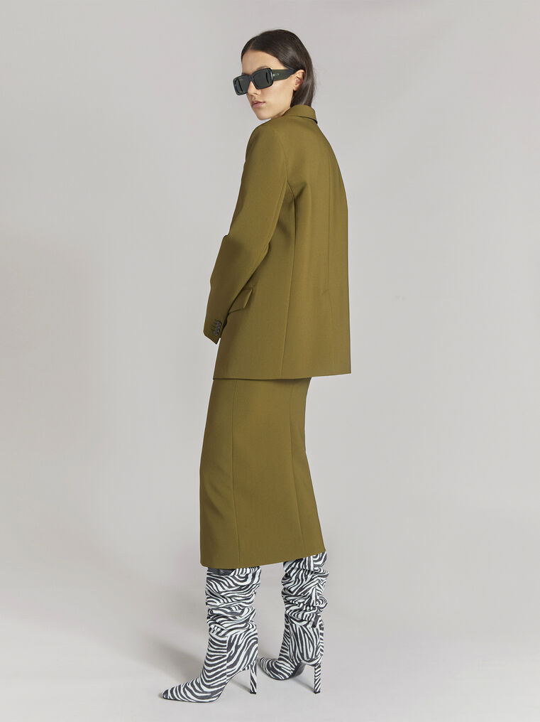 "THE ATTICO ""Bianca"" military green jacket 3"