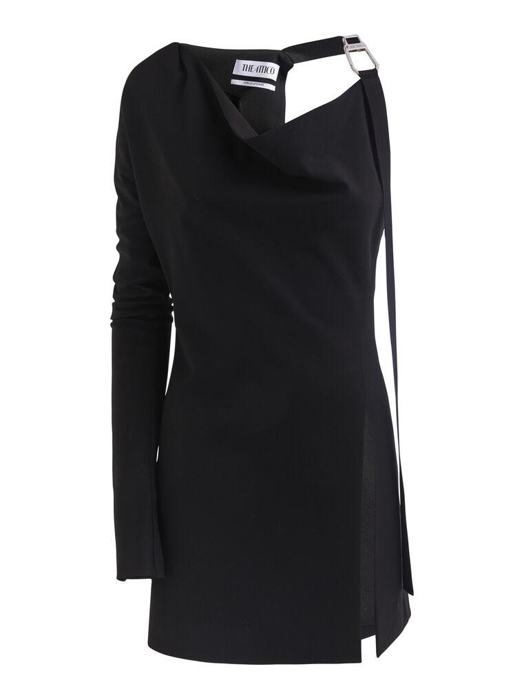 """THE ATTICO """"Linda"""" black mini dress 4"""