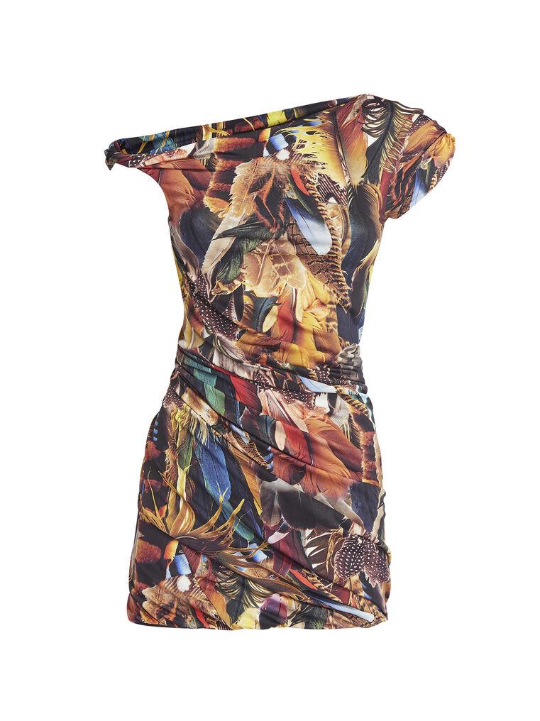 THE ATTICO Twisted multicolor mini dress 4