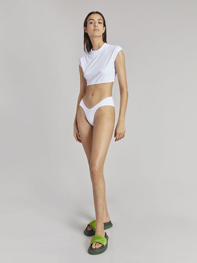 THE ATTICO White bikini t-top 1