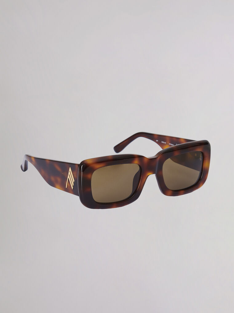"The Attico ""Marfa"" tortoise effect sunglasses 2"