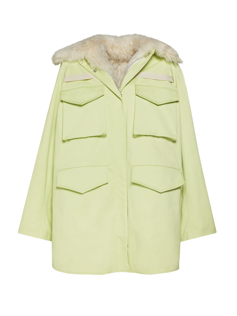 """THE ATTICO """"Janet"""" pale yellow field jacket 4"""