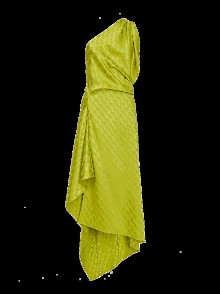 """The Attico """"Bea"""" monogram pistache midi dress 4"""