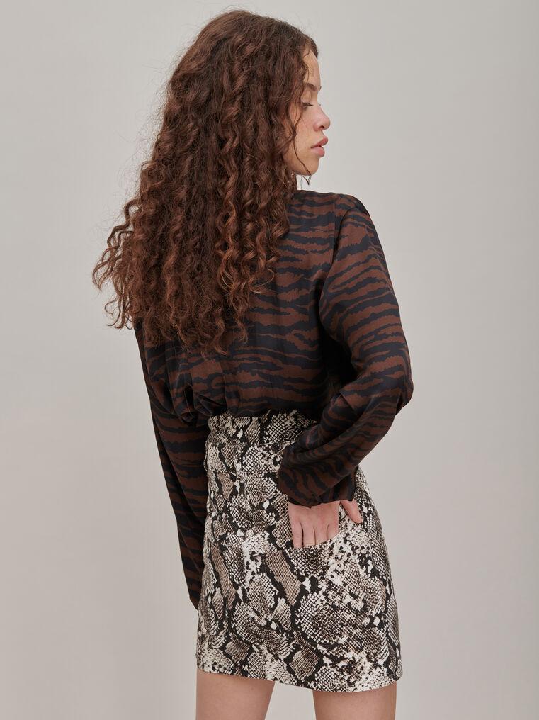 "The Attico ""Virgi"" python-printed mini skirt 3"
