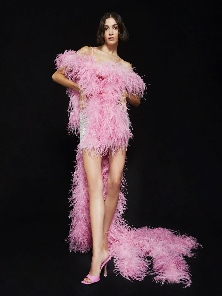 THE ATTICO ''Betul'' pink mini dress 4