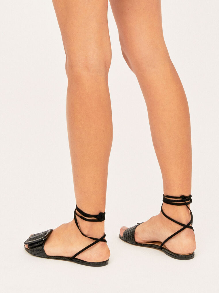 The Attico Flat Sandal With Buckle 3