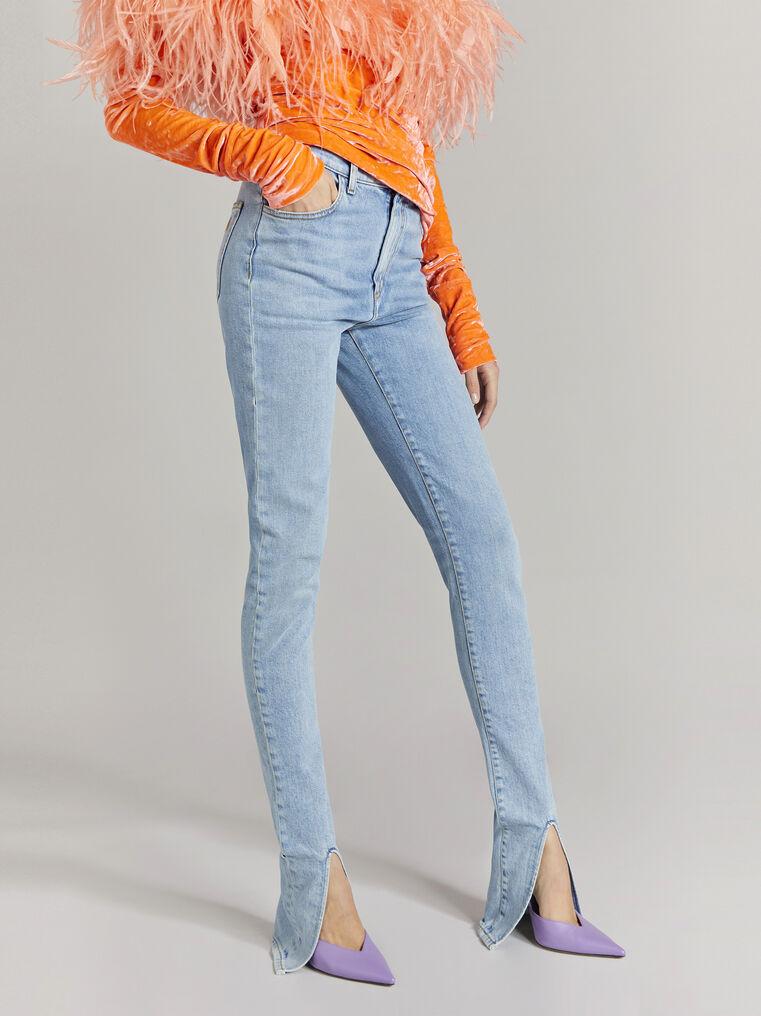 THE ATTICO Blue denim skinny pants 2