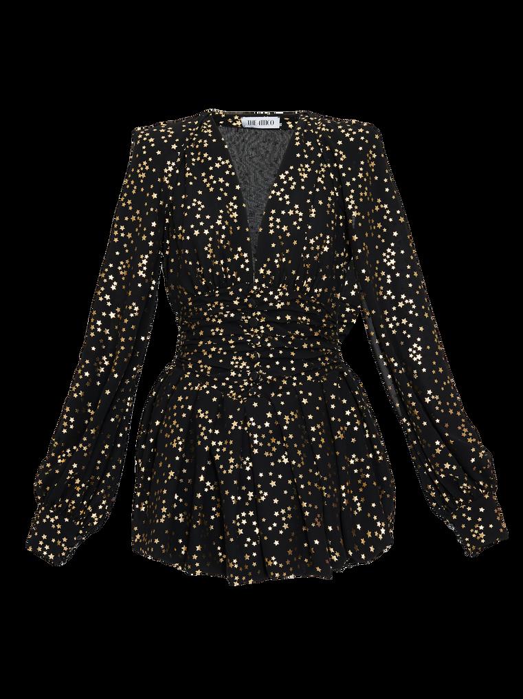 The Attico Black and gold mini dress 4