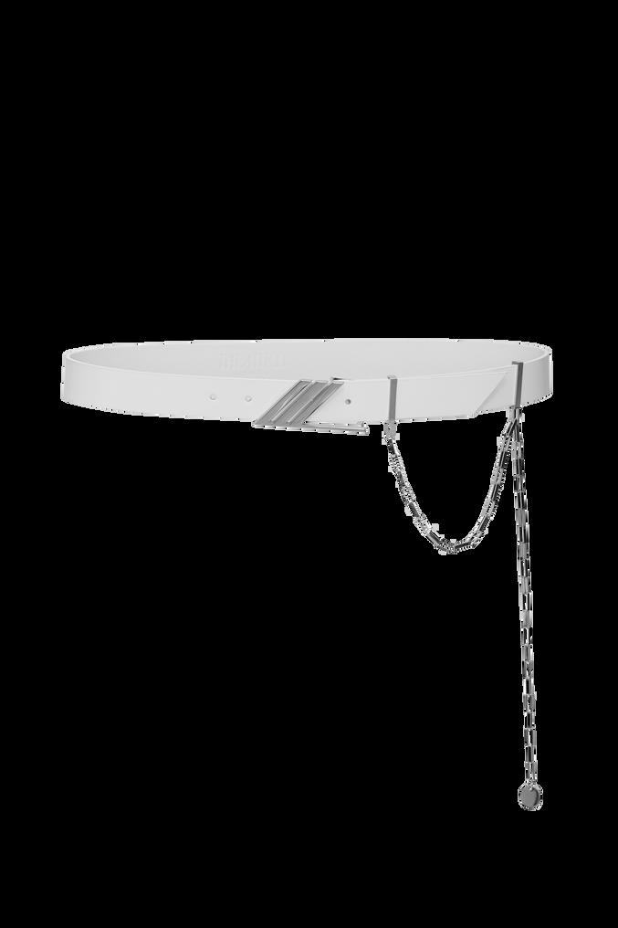 "The Attico ""Idra"" white leather belt 3"