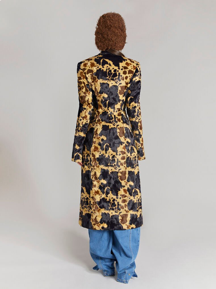 """THE ATTICO """"Milla"""" cow printed fitted coat 3"""