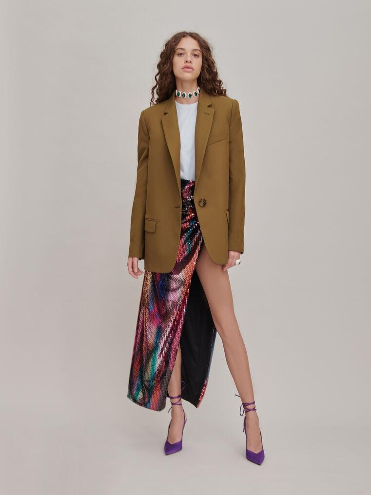 "The Attico ""Joanna"" multicolor long skirt 1"