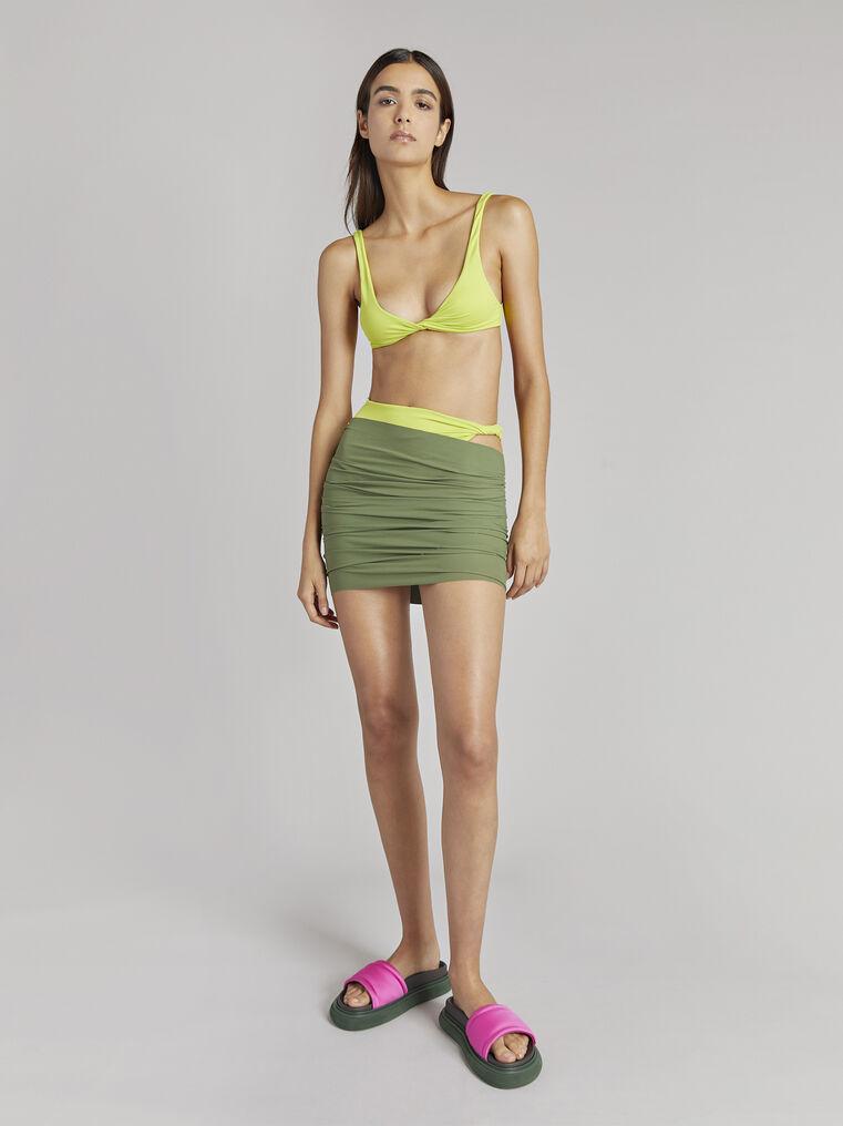 THE ATTICO Matte military green mini skirt 1
