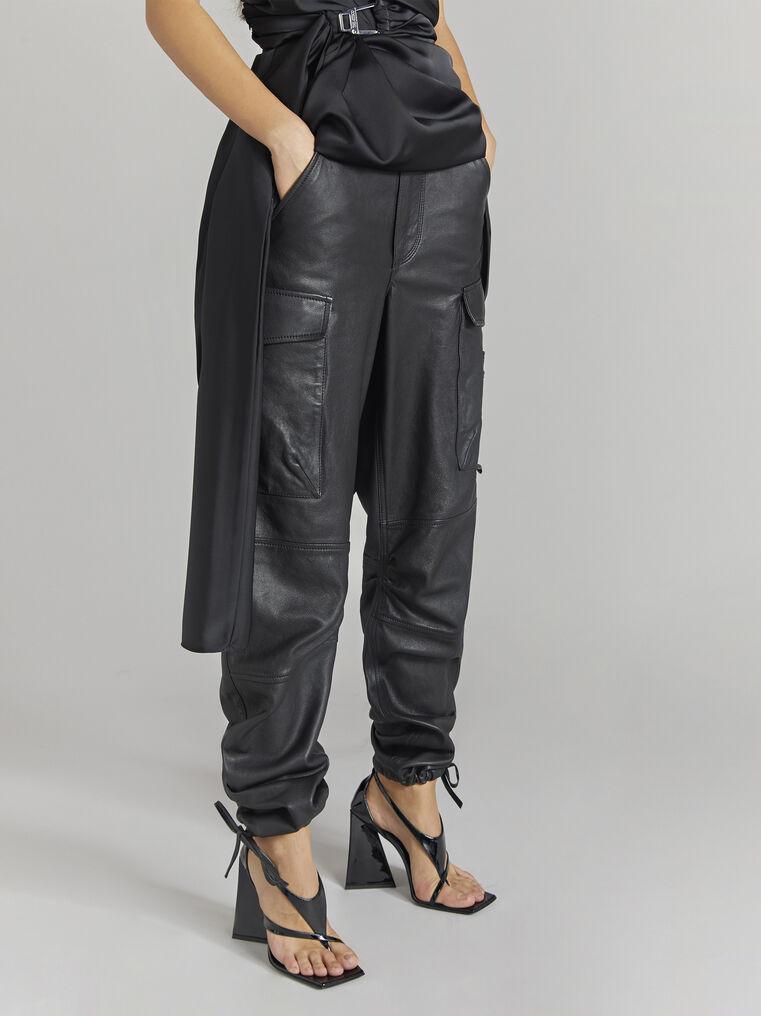 THE ATTICO ''Manson'' black cargo pants 2