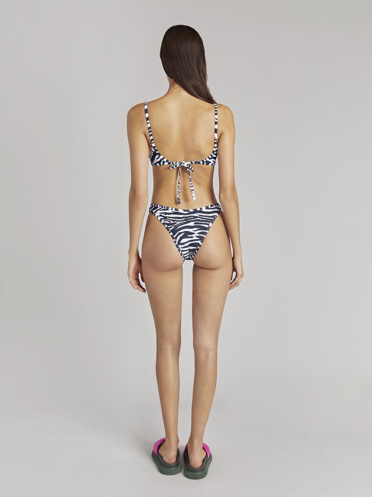 THE ATTICO Zebra printed bikini 3