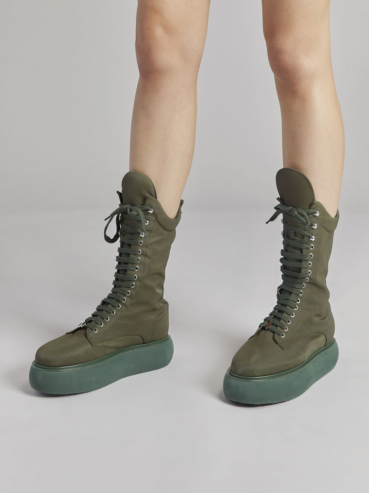 "THE ATTICO ""Selene"" military green boots flatform 1"