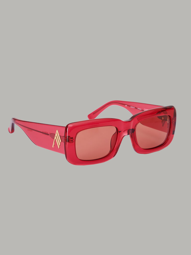 "The Attico ""Marfa"" red sunglasses 2"