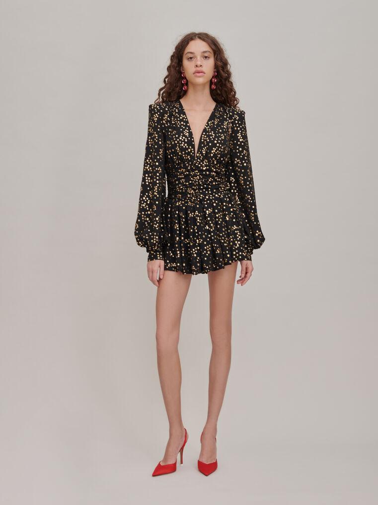 The Attico Black and gold mini dress 1