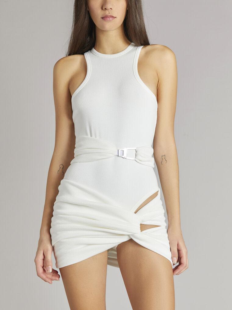 """THE ATTICO """"Cindy"""" white mini dress 2"""