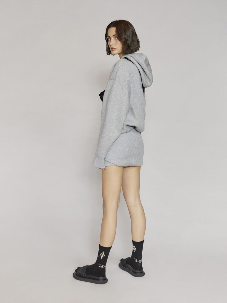 "THE ATTICO ""Ezra"" light grey mini skirt 3"