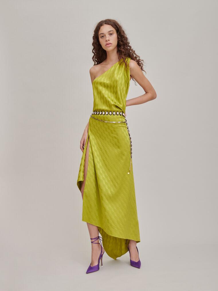 """The Attico """"Bea"""" monogram pistache midi dress 1"""