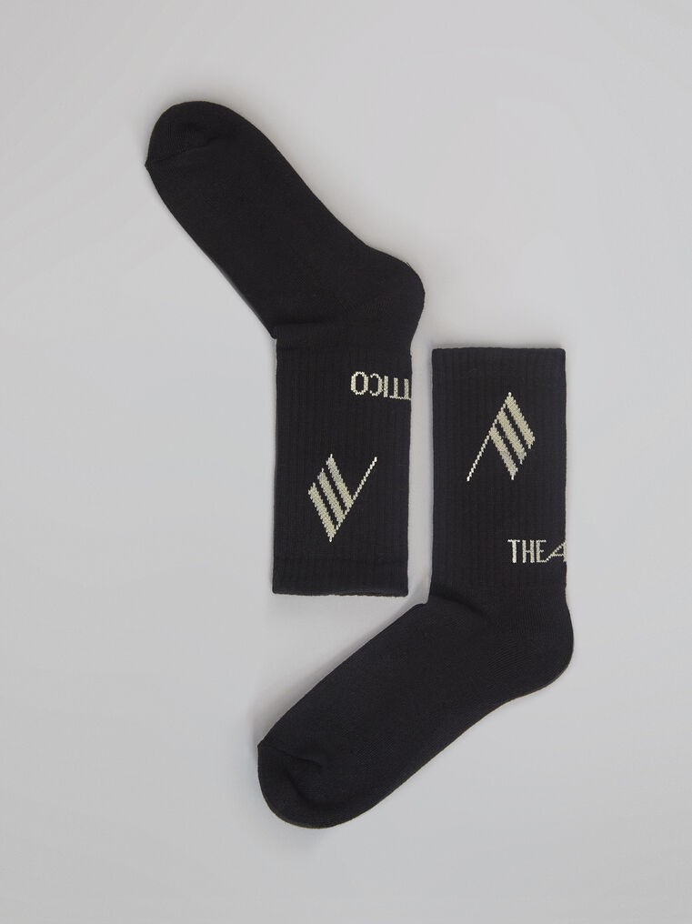 THE ATTICO Bicolor sponge short socks 2
