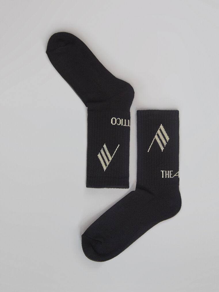 THE ATTICO Black bicolor sponge short socks 2