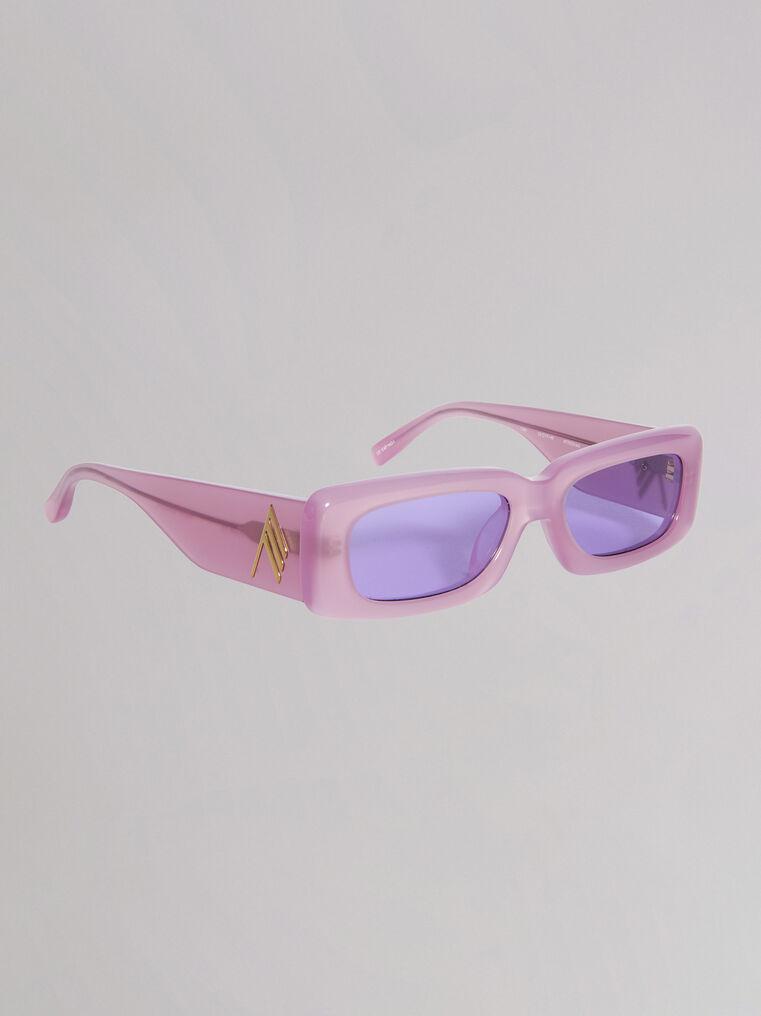"""THE ATTICO """"Mini Marfa"""" orchid sunglasses 2"""