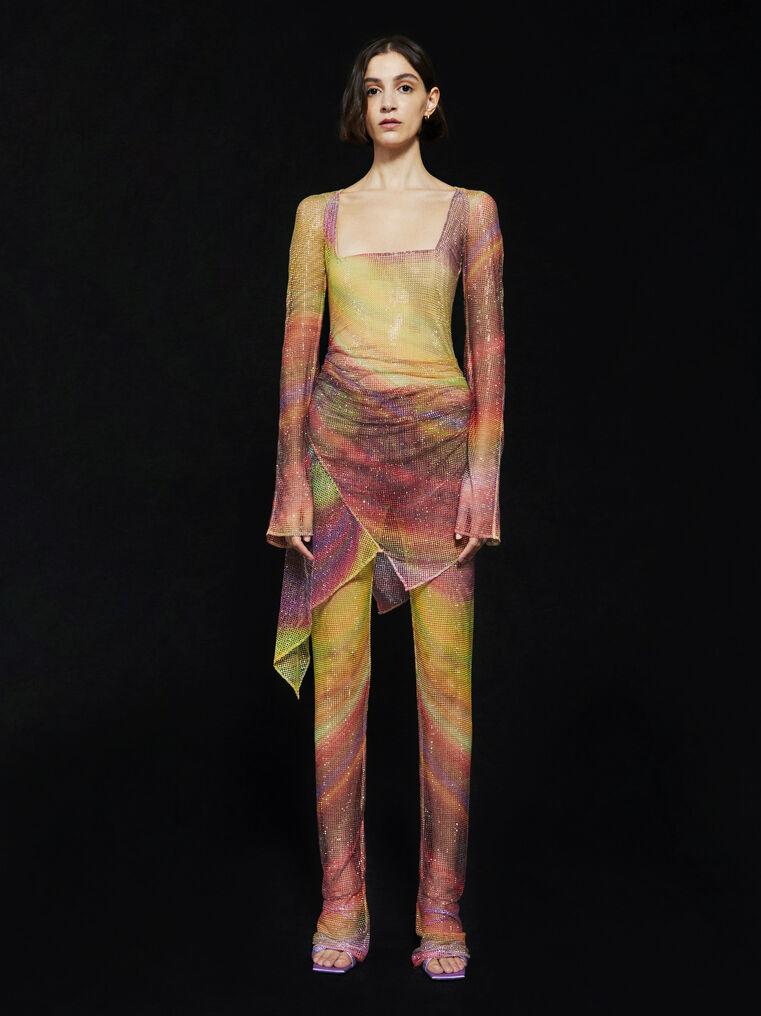 THE ATTICO ''Anemone'' multicolor mini dress 1